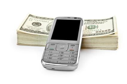 phone with money