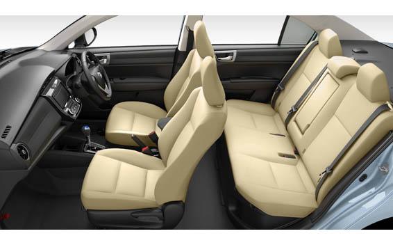 Toyota Axio interior view